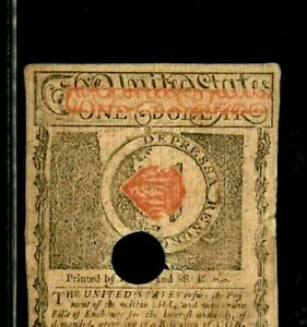 """$1  """"OLD COLONIAL """" 1780 $1 """"RED OVERPRINT"""" (OLD COLONIAL) """"BEAUTIFUL"""" CRISPY!!!"""