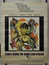 THEY CAME TO ROB LAS VEGAS 1968 ORIG 30X40 MOVIE POSTER GARY LOCKWOOD