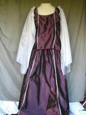 Medieval Renaissance Princess Queen Noble Purple w Silver Trim Size Medium