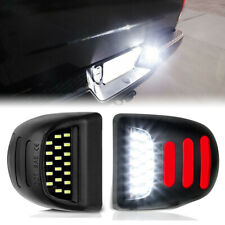 2Pcs LED License Plate Light w/ Red DRL For Silverado GMC Sierra 1500 2500 3500