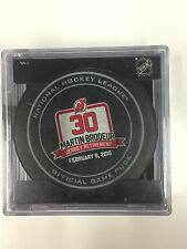 MARTIN BRODEUR #30 Jersey Retirement Night OFFICIAL Game Puck 2/9/16 NJ Devils