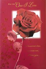 Pour La seule I LOVE-rose rouge Saint-Valentin Carte de vœux