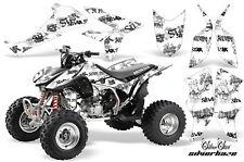 ATV Graphics Kit Quad Decal Sticker Wrap For Honda TRX450R TRX450ER SSSH BLK WHT