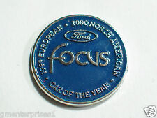 Ford Focus Lapel Pin, 1999 Europen 2000 North American  #1 Car of the Year, (**