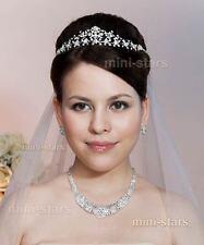 Hochzeit Vintage-Stil Kristall Handgefertigt Diadem Tiara T1470