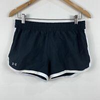 Under Armour Womens Running Shorts Size Small Black Elastic Waist Drawstring
