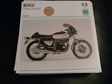 Fiche card CARTONNée moto benelli 1973 650 nuova tornado s2 italie