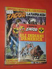 ZAGOR- SPECIALE- N°4- la fiamma nera- 1°EDIZIONE BONELLI-  CON LIBRICINO