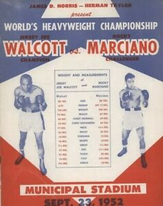 ROCKY MARCIANO & JERSEY JOE WALCOTT 8X10 PHOTO BOXING PICTURE