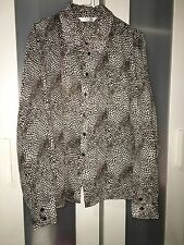 Toronto Size 22 Brown & White Sheer Spotted Shirt Collar & Cuff Work # 626