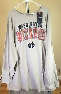 Washington Wizards NBA Fanatics Gray Washington Wizards 6XLB Long Sleeve Shirt