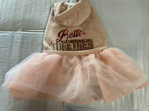 Pink Hoodie Dog Dress with sparkles