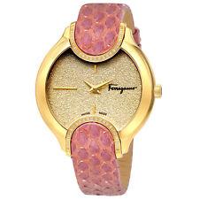 Ferragamo Signature Gold Diamond Dust Dial Ladies Watch FIZ100015