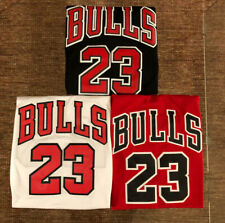 Men's/Youth #23 Michael Jordan Chicago Bulls Classic RED/WHITE/BLACK Sewn Jersey