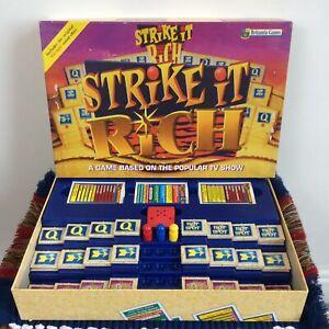Strike It Rich Board Game Britannia Games 100% Complete - Rare - 1990s