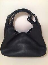 Bottega Veneta Black Expandable Hobo Shoulder Bag With Dust Bag