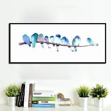 Watercolor Birds Canvas Poster Art Print Modern Minimalist Wall Picture Decor