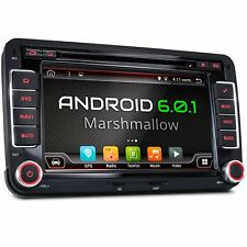 AUTORADIO CON ANDROID 6.0.1 ADATTO PER VW SKODA SEAT DVD CD USB SD WIFI NAVI GPS