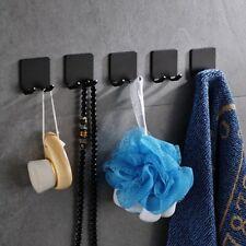 Punch-free Hooks Metal Black Double Hanger Wall Bathroom Hanging