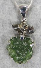 MOLDAVITE PENDANT $118 Tektite 925 Sterling Jewelry STARBORN CREATIONS MP118-M1