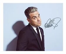 ROBBIE WILLIAMS SIGNED AUTOGRAPHED A4 PP PHOTO POSTER A