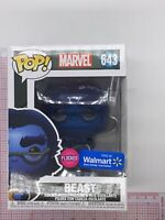 Funko POP! Marvel: X-Men Beast Flocked #643 Walmart Exclusive NOT MINT BOX F02