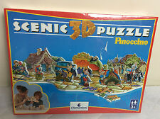 Clementoni Disney PINOCCHIO Scenic 3 D Puzzle Jigsaw 74 pc - New & Sealed- Rare