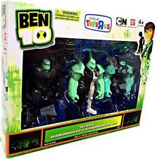 Ben 10 Tetrax, Diamondhead & Diamondhead V.2 Action Figure 3-Pack [Damaged]