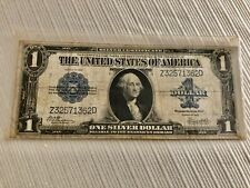 """Usa 1923 $1 One Dollar """"Horse Blanket� Silver Certificate Large Size Note"""
