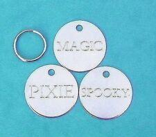 Lot de 3 Médailles pour vos chiens gravée - PROMOTION 3 x 25mm en nickel