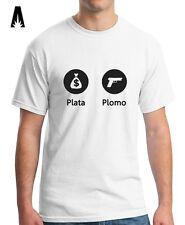 R 0181 PLATA O PLOMO for Narcos and Pablo Escobar fans El Patrón Cocaine T-shirt