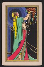 1 Single VINTAGE Swap/Playing Card USNN 'CHLORIS CH-4-1-A' Deco Goddess