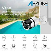 A-ZONE 1080P FHD Wireless WIFI Camera Onvif Security CCTV IR Night Vision IP66