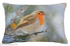 """FILLED EVANS LICHFIELD RED ROBIN MADE IN UK CUSHION 17"""" X 13"""" - 33 x 43CM"""