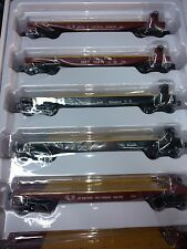 6 Pack Lionel  3 rail 0 Assorted RR flat cars  MINT in Box @ $20.00 each 6-84455