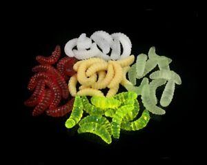 50pcs Artificial Soft Imitation Bait Maggots Grub Lure Fake for Carp Hair Rigs