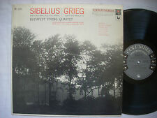 "BUDAPEST STRING QUARTET Sibelius & Grieg Quartets ML-5202 ""6-eye"" Mono NM-"