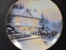 1995 An Old Fashioned Christmas  Kinkade THE BEST TRADITION Ltd Ed Plate