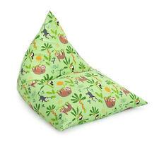 Rainforest Large Childrens Pyramid Shape Bean Bag Gaming Beanbag Chair Gamer