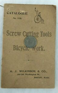 =RARE CATALOG=>> SCREW CUTTING TOOLS/BICYCLE WORK/Antique SAFETY BICYCLE/ 1890'S