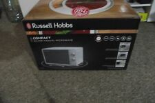 NEW - RUSSELL HOBBS 17L SILVER MANUAL MICROWAVE OVEN, 700W RHMM703S