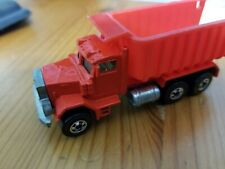 Hot Wheels Red Peterbilt Dump Truck Malaysia 1979; FREE S/H!
