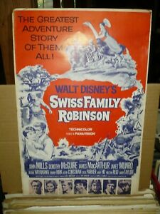 SWISS FAMILY ROBINSON, uncut 24pg Disney prbk [John Mills, Dorothy Maguire]