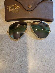 vintage ray ban bausch & lomb  aviator  sun glasses