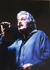 Photo of Ray Thomas Moody Blues in concert mounted 11.3 x 8 in by Mel Longhurst