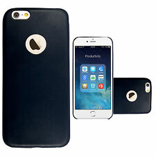Matte Leather Fitted Cases for Apple Phones