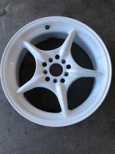 "17"" Tenzo R Used White Wheel"