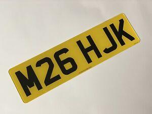 Short 6 digit Rear road legal Number Plate 100% MOT Compliant free post