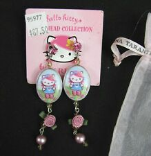 Tarina Tarantino Hello Kitty Dangle Earrings Swarovski Crystal Head Collection