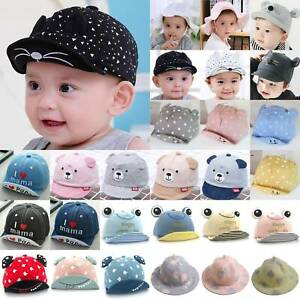 Newborn Baby Girl Boy Baseball Cap Kids Visor Sun Brim Bucket Hat Summer Outdoor